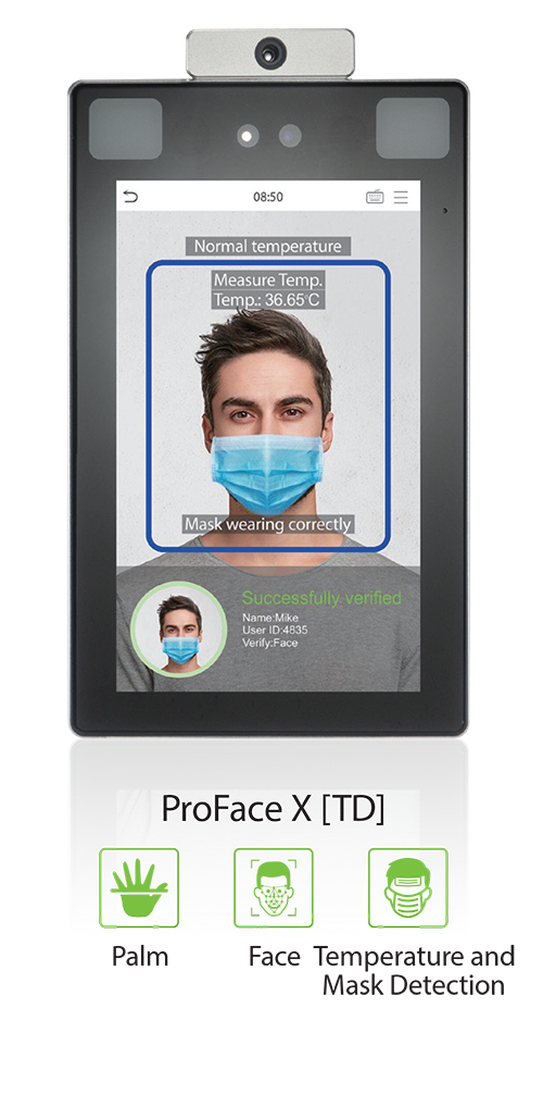 Biometric Authentication | Time Data Sequel | Pro Face X thermal